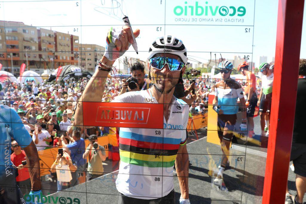 Valverde, de arcoíris, en La Vuelta de 2019